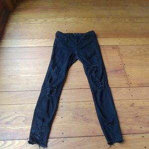 Hollister black ripped jeans
